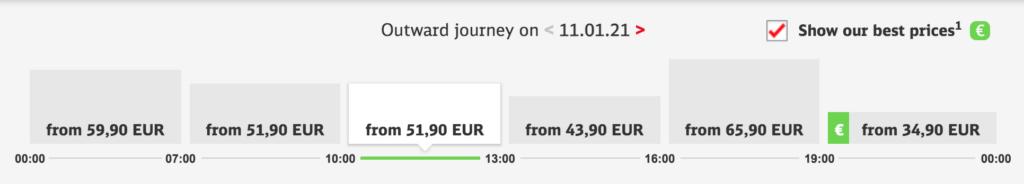 德國國鐵最優惠票查詢