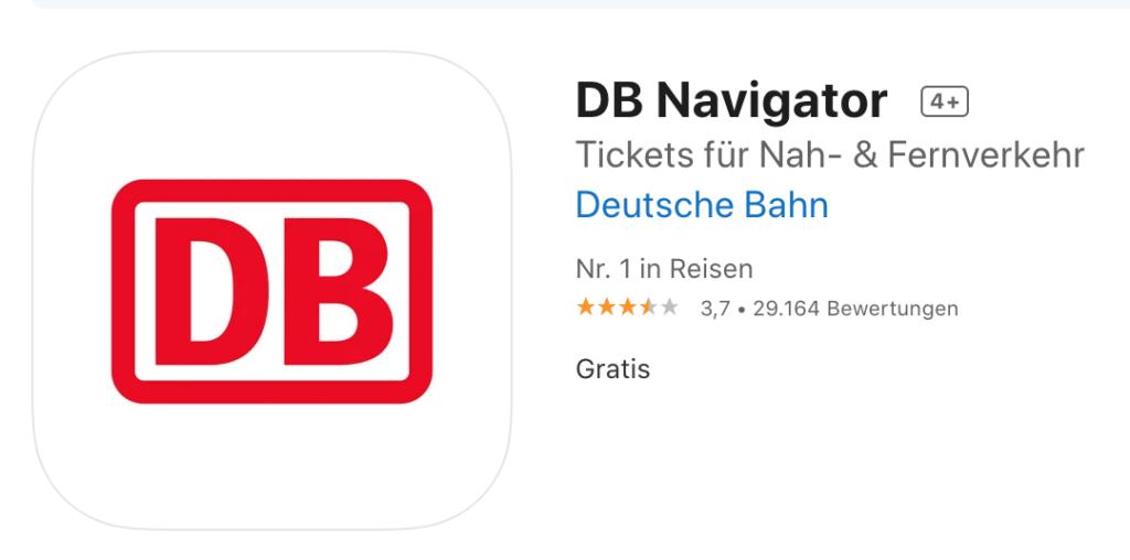 DB Navigator 德國國鐵app