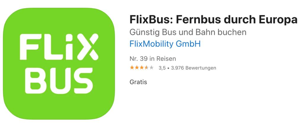Flixbus 德國巴士 app