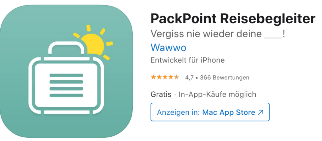 Pack Point 行前打包 app