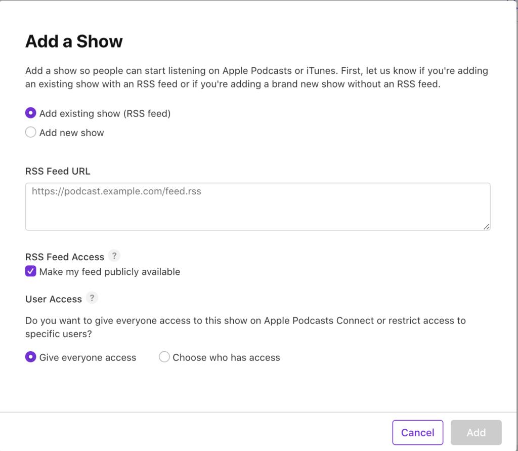 提交節目到 Apple Podcast